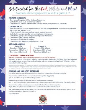 2021-2022 Red, White and Blue Entry Form