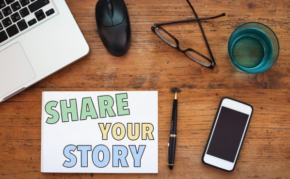 share your story, concept