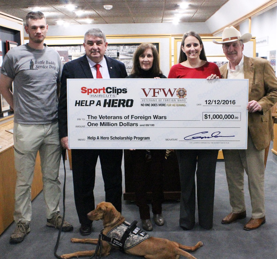Sport Clips Haircuts Donates Record $1 Million To VFW Help
